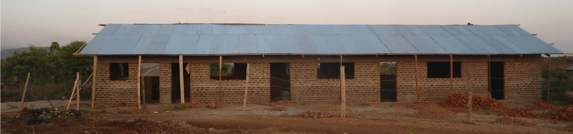 Progress towards completion of our school in Nyiera